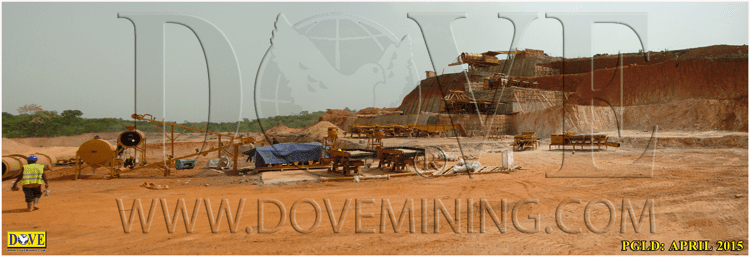 DOVE Equipment for Alluvial gold mining Siguiri