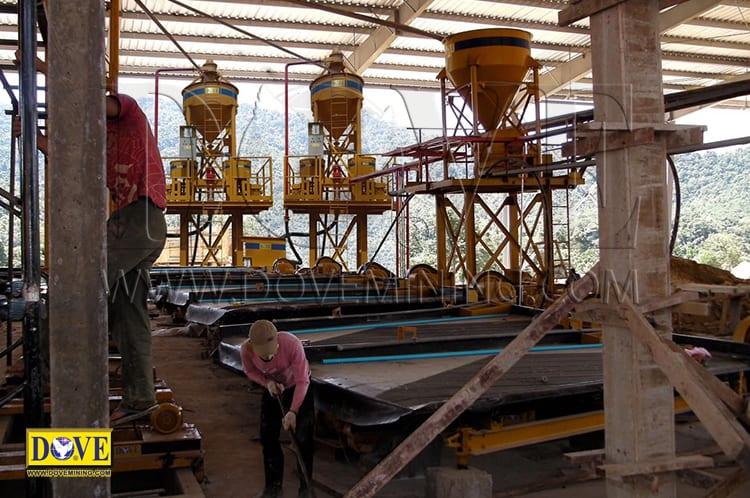 DOVE centrifugal concentrators in the mining site