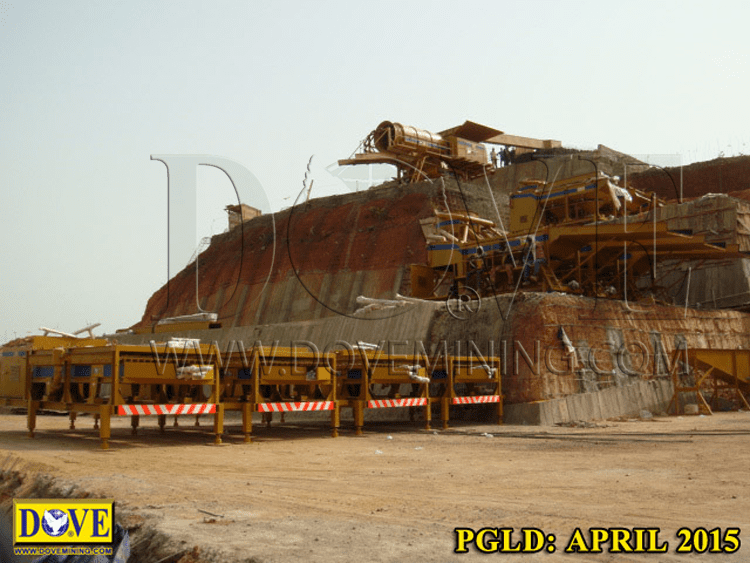 DOVE Equipment for Alluvial gold mining, Siguiri
