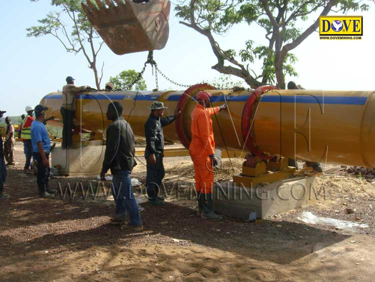 DOVE Equipment for Alluvial gold mining in Guinea