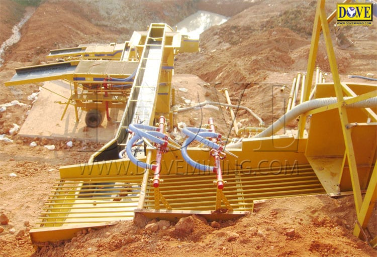 Dimond mining operation, DOVE diamond processing plantr