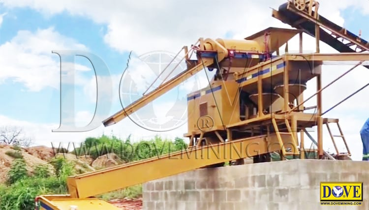 Alluvial gemstone mine Mozambique 2018