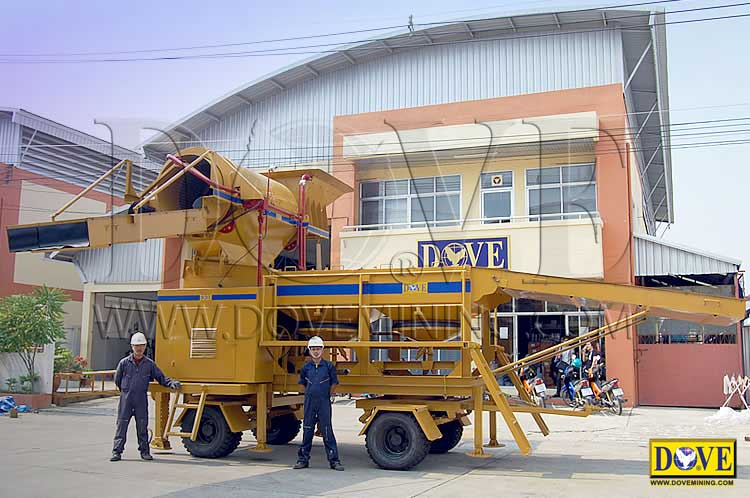 DOVE Portable processing plant for alluvial mining operations