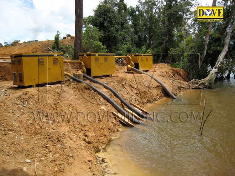 DOVE gold mining equipment in Ghana