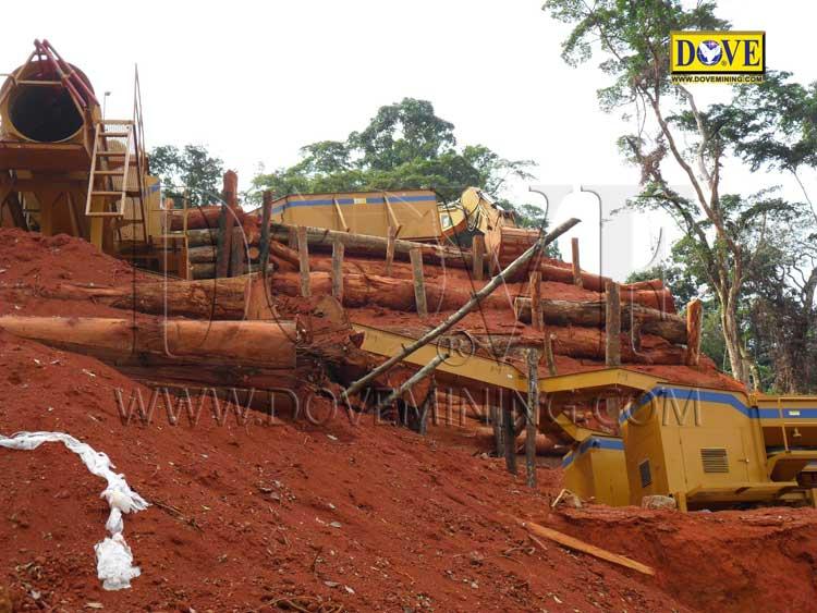 DOVE gold mining equipment for Ghana