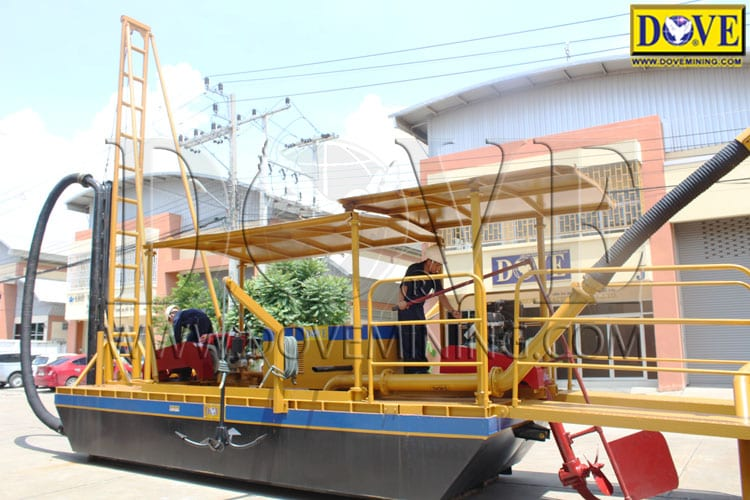 DOVE gold dredge at the factory