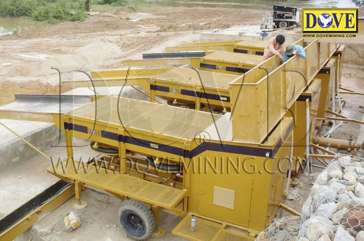 DOVE mining equipment for gold wash plant