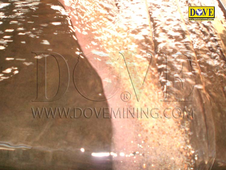 Gold production of DOVE alluvial gold plant