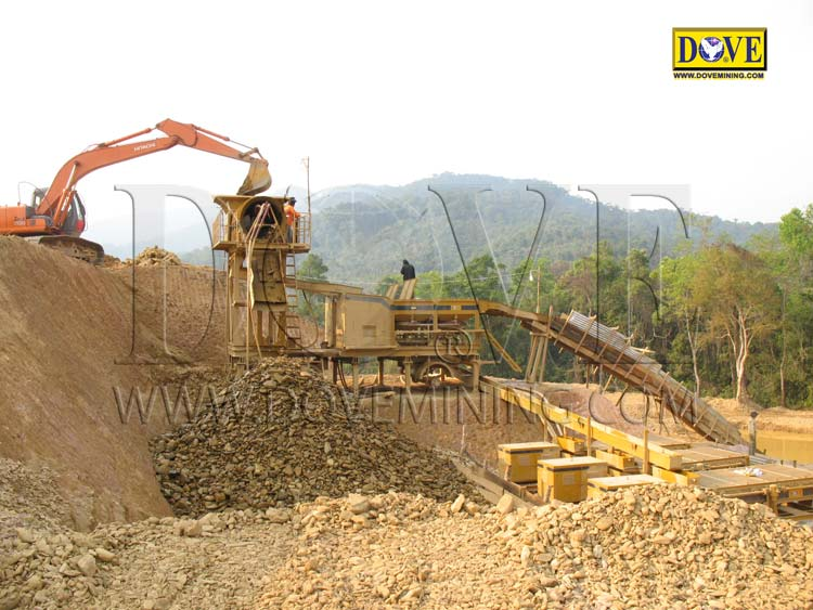 DOVE alluvial gold plant