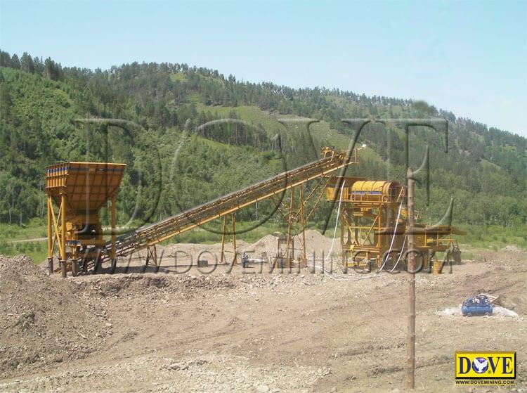DOVE Alluvial gold mining plant Mongolia