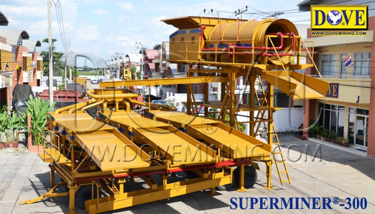 DOVE Portable plant for medium and large scale alluvial mining operations