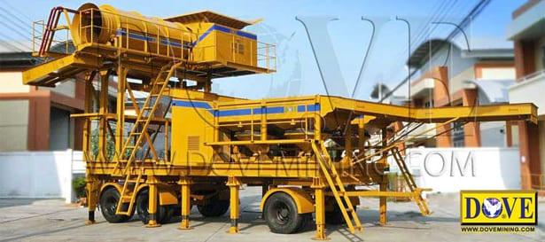 DOVE portable gold wash plant