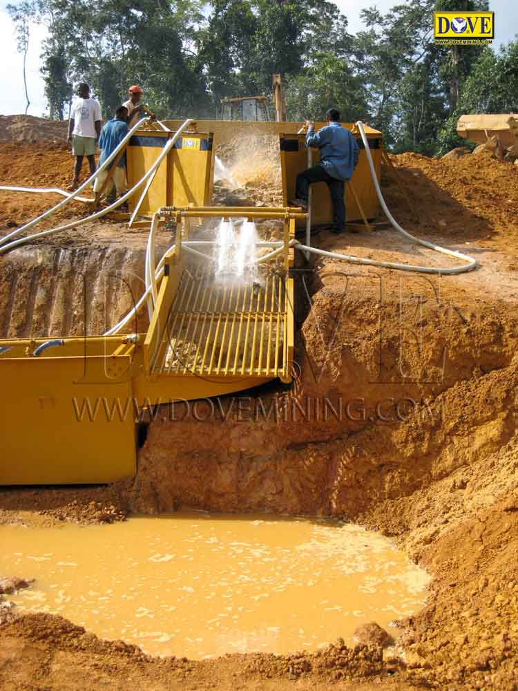 DOVE gold and diamond mining equipment for mining project in Sierra Leone