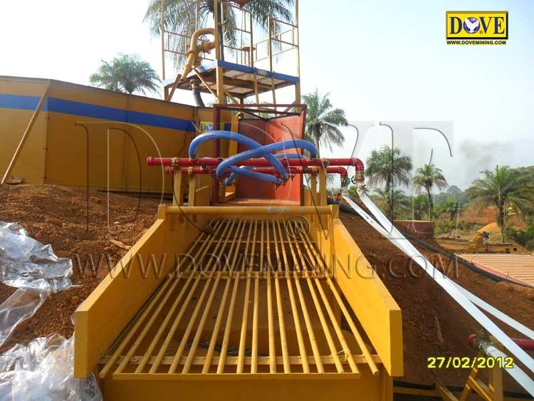 DOVE alluvial diamond plant Sierra Leone