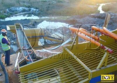 DOVE equipment for Alluvial diamond mining in Angola