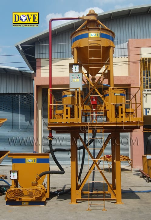 DOVE centrifugal gold concentrator