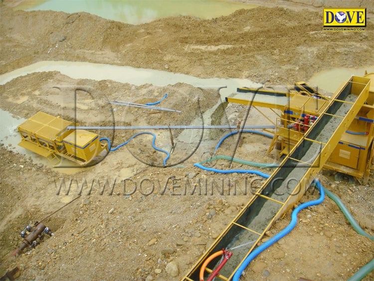 Alluvial mining Indonesia