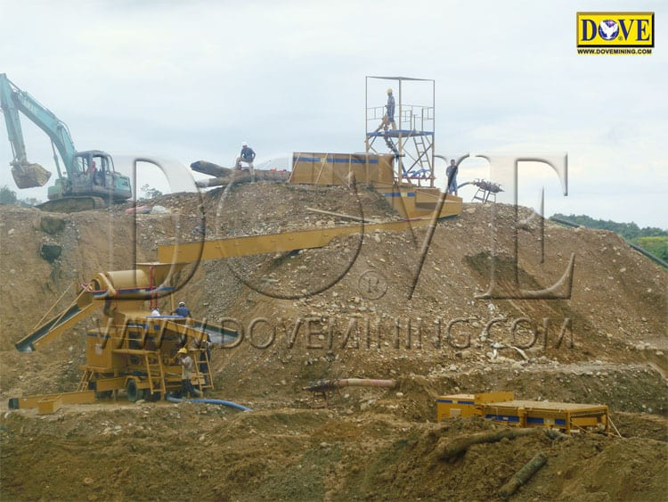 Alluvial gold mining Indonesia