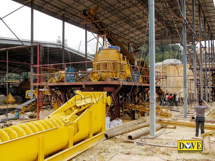 Cone Crusher, DOVE Hard rock plant, Laos