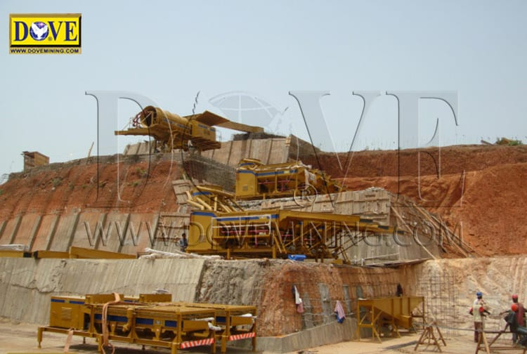 DOVE semi-stationary processing plant for alluvial mining operation