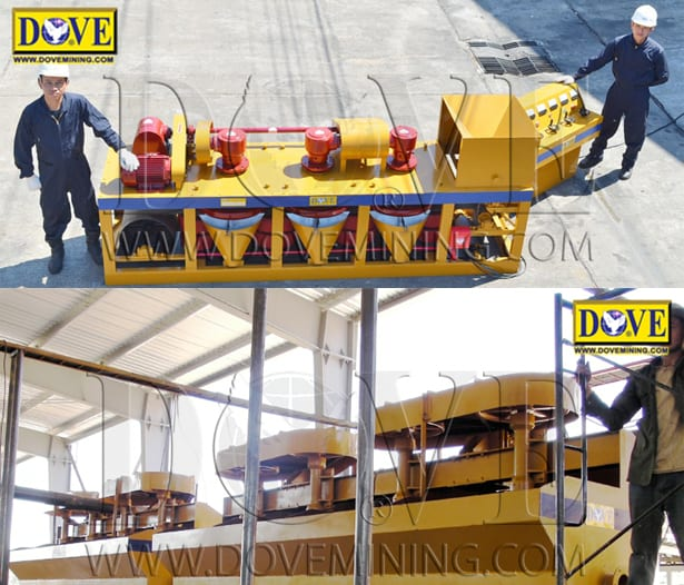 DOVE High Intensity Magnetic Separator and  DOVE Flotation Circuit for Hard Rock Processing and Beneficiation (mining equipment)