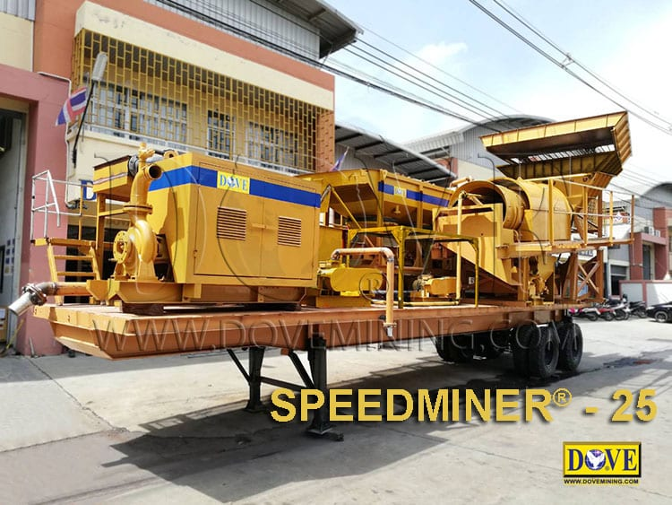 DOVE mobile plants for alluvial and hard rock mining