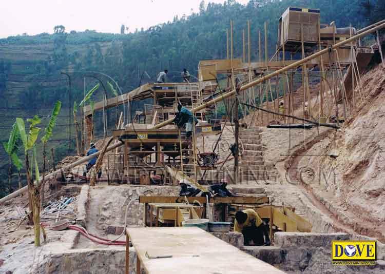 DOVE mining equipment for tantalum and niobium mine in Rwanda