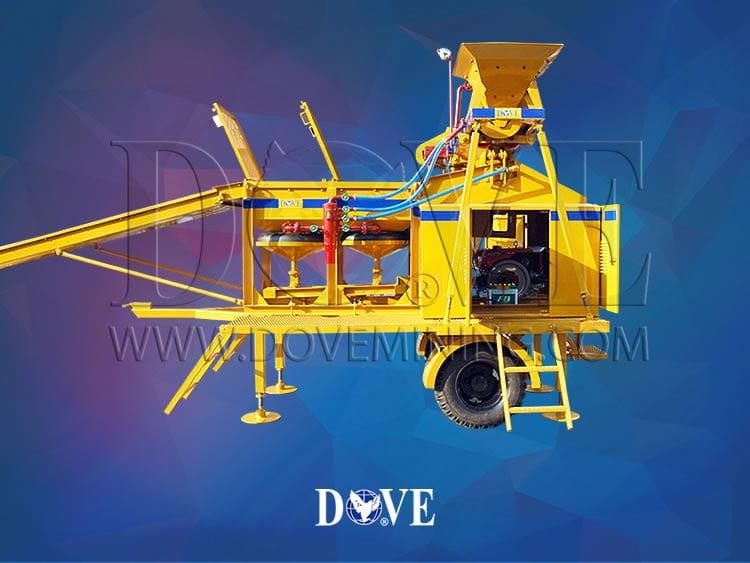 portable plant for gold, diamonds, gemstones, other metals and minerals