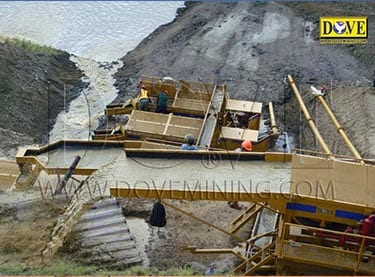 DOVE alluvial (placer) gold wash plant in Indonesia