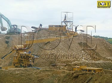 DOVE processing plant for alluvial (placer) gold mining project in Indonesia