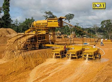 Alluvial (placer) gold and  diamond plant in Liberia