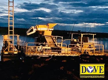 DOVE dredge and floating plant equipment for diamond river mining