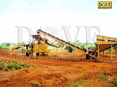 Portable processing plant in Sierra Leone, for recovery of placer Diamonds and Gold