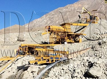 DOVE alluvial (placer) gold wash plant in Tajikistan