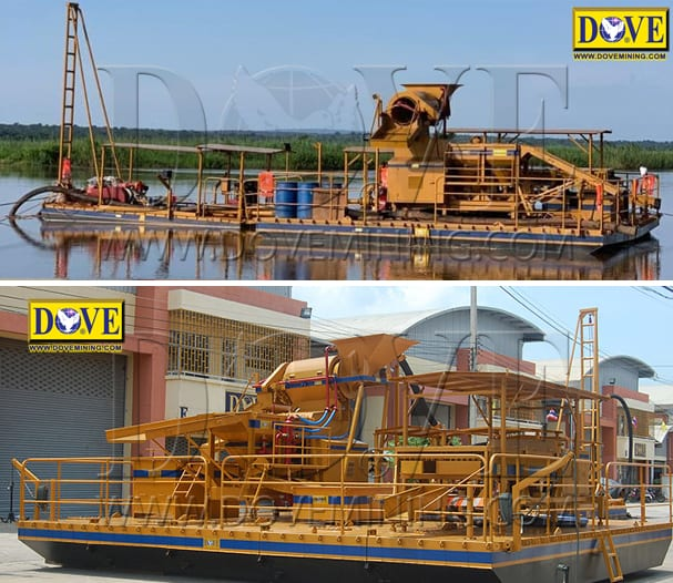 River mining equipment dredging plant and floating plant for river mining