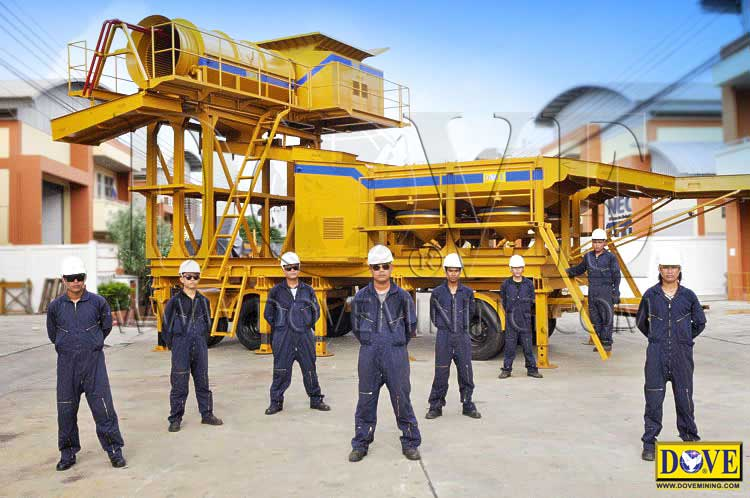 DOVE portable processing plant for gold, diamonds, gemstones, other metals and minerals
