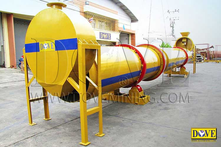 DOVE dual flow rotary dryer