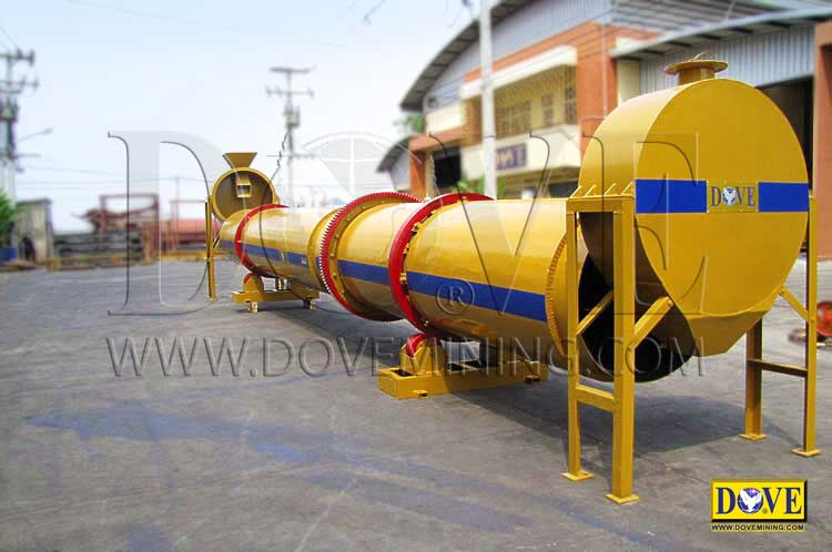 Dual Flow Rotary Dryer, manufactured by DOVE Equipment
