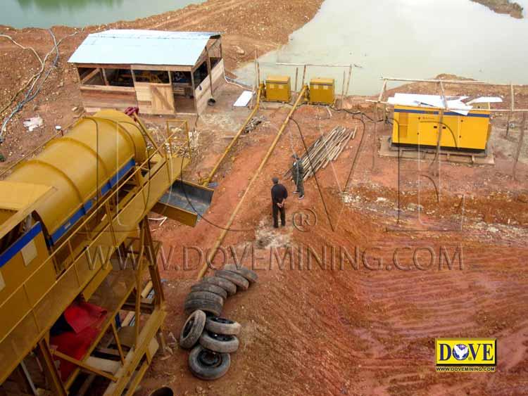Generator in the mining site