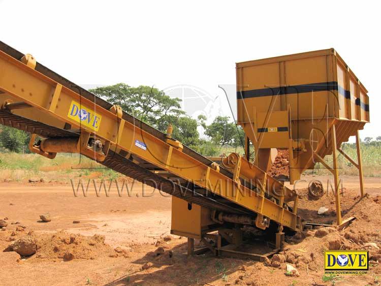 DOVE Hopper in the mine, feeding ore