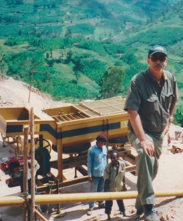 Mining tantalite in Rwanda