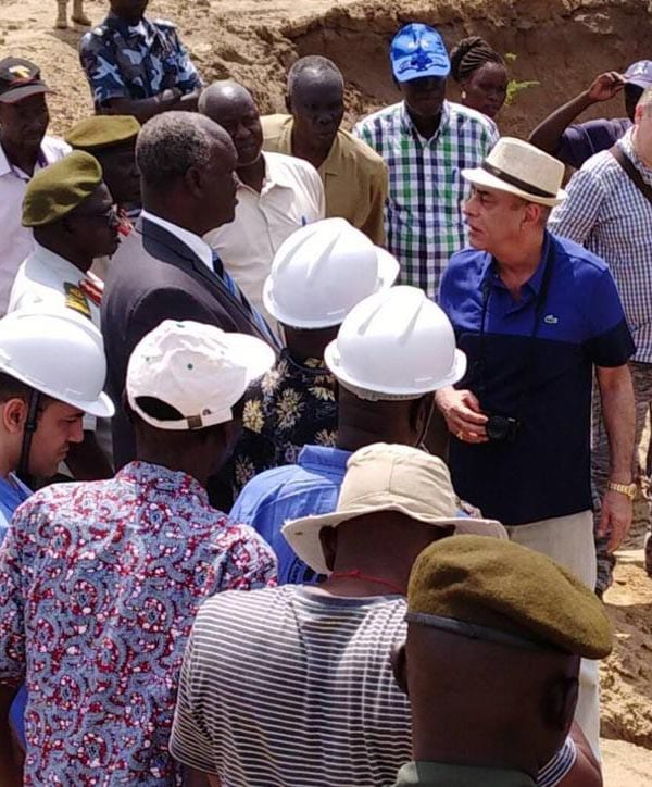 Mining gold in South Sudan