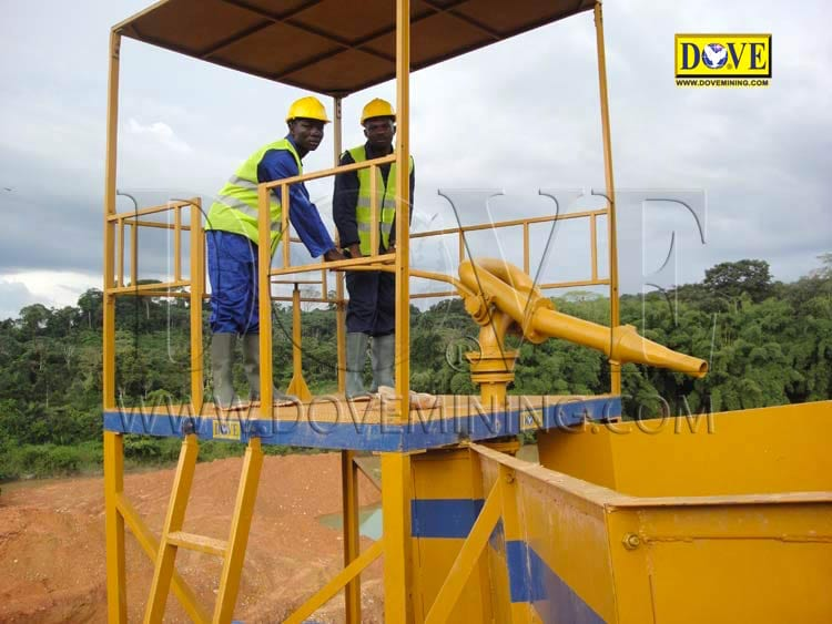 DOVE equipment for gold mining project Ghana