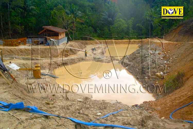 DOVE Alluvial gold plant miming site Indonesia
