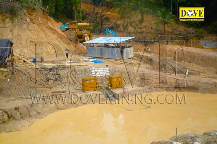 DOVE Alluvial gold plant mining site Indonesia