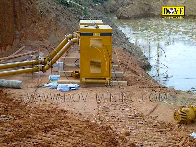 DOVE 150 TPH Gold wash plant Laos