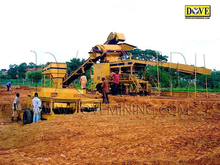 DOVE gold and diamond plant in Sierra Leone 1999