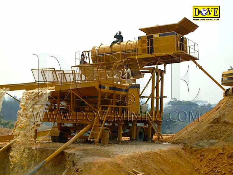 DOVE gold and diamond portable plant in Sierra Leone