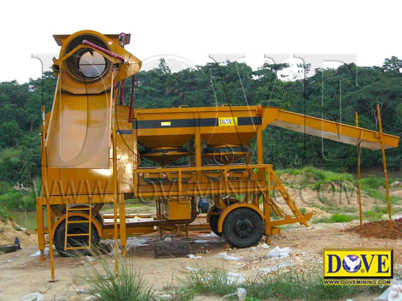 DOVE equipment for Alluvial diamond project in Angola