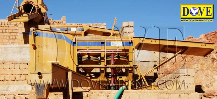 DOVE Jig Concentrator in the mine